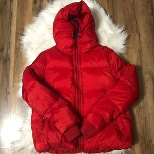RED AE short puffer jacket